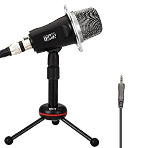 TONOR 3.5mm Condenser Sound Podcast Studio Recording Microphone for Computer Karaoke, video chat, audio recording, and podcasts