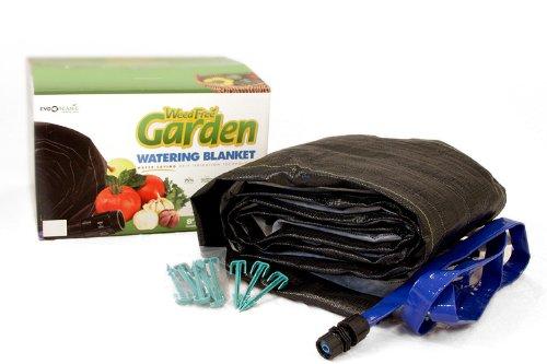 EvoOrganic WFGB_BO 8-foot x 10-foot Weed Free Garden Watering Blanket With Header Hose