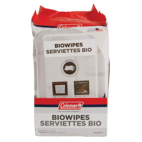 Coleman Biowipes, 30 Count