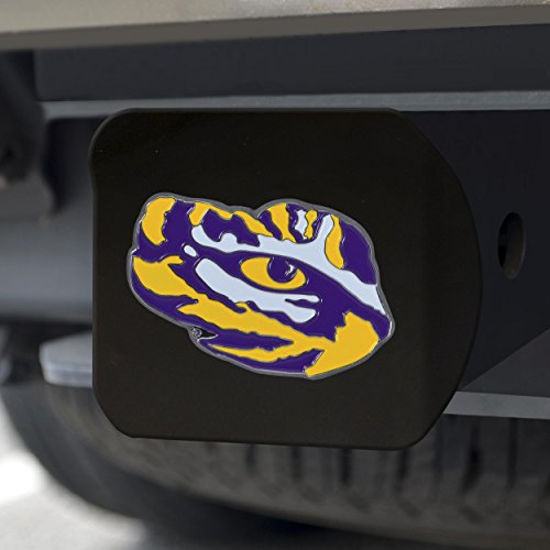FANMATS NCAA LSU Tigers Louisiana State Universitycolor Hitch - Black, Team Color, One Size