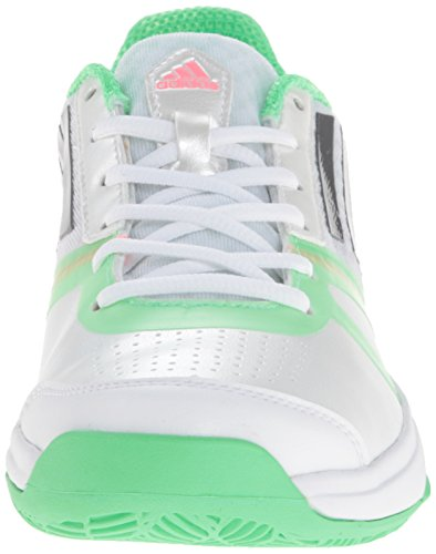 Adidas Performance Womens Galaxy Allegra Iii Scarpa Da Tennis Bianca / Neo Iron Metallic / Flash Green