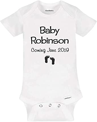 Baby Onesies 100/% Cotton Baby Shower Gift Customizable I Name Onesie Big Letter and Name Onesie Newborn