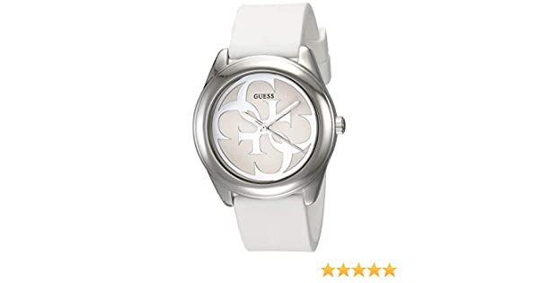 Amazon.com: Guess G Twist White Dial Silicone Strap Ladies Watch W0911L1: Watches