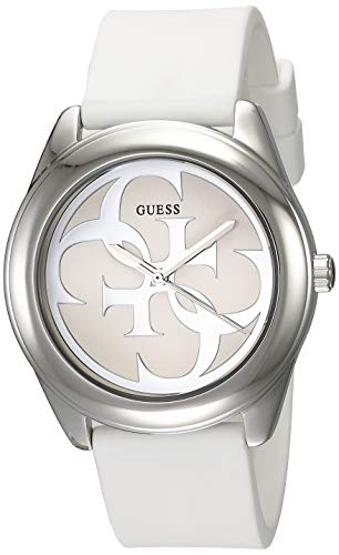 Guess G Twist White Dial Silicone Strap Ladies Watch W0911L1