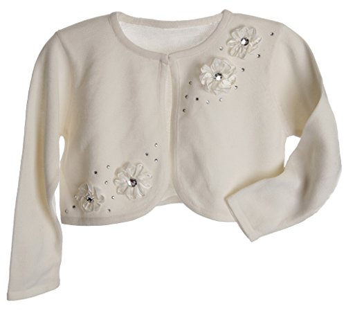 girls cream cardigan - 5