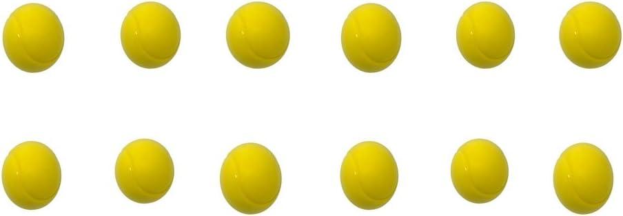 Pelotas de tenis de espuma suave de 70 mm, de E-Deals, en paquete, Pack of 12 Yellow
