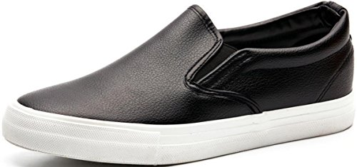 Mocassini Satuki Per Uomo, Sneakers Flat Fashion, Pull On Casual Soft Sneakers Sportive Leggere Atletiche Nere