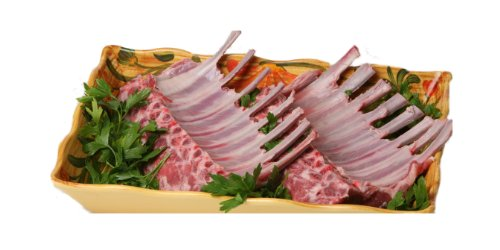 New York Prime Meat USDA Prime Fresh American Rack of Lamb Rib French Style Roast, 24-Ounce Packaged in Film & Freezer (Lamb Roast)
