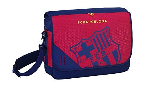 Safta 135089 F.C. Barcelona Borsa a Tracolla, Colore: Nero/Bordeaux