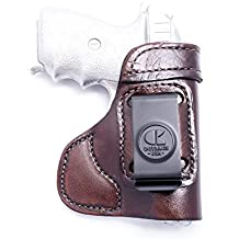 OUTBAGS USA LS3P938 Brown Full Grain Heavy Leather IWB Conceal Carry Gun Holster for Sig Sauer P238 .380 & P938 9mm. Handcrafted in USA.