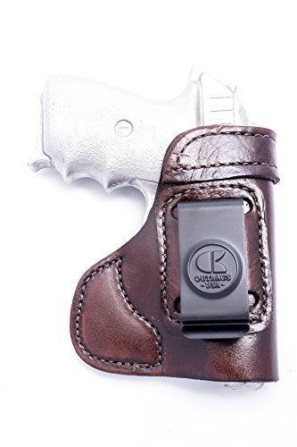 OutBags USA LS3P938 (Brown-Right) Full Grain Heavy Leather IWB Conceal Carry Gun Holster for Sig Sauer P238 .380 & P938 9mm. Handcrafted in USA.