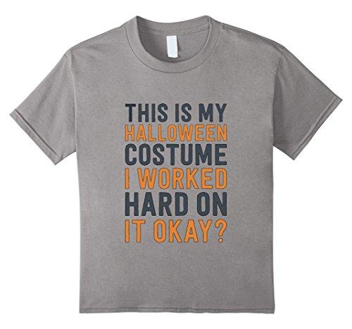 Kids Easy Halloween Costume - Halloween 2017 Funny Shirt 4 Slate (2017 Halloween Costumes For Guys)