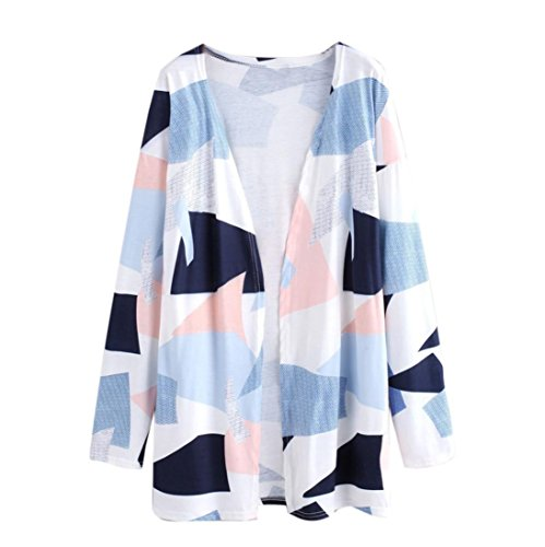 BCDshop Fashion Women Print Loose Shawl Kimono Cardigan Top Cover up Shirt Blouse (M) by BCDshop