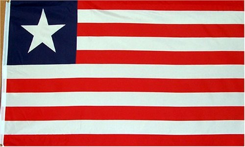 Liberia National Country Flag 3X5 Feet