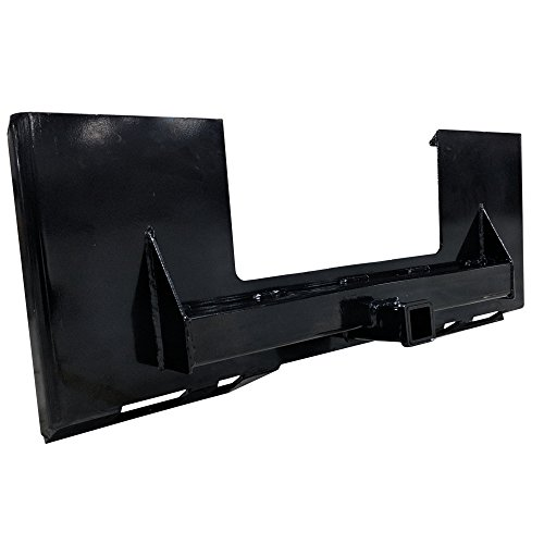 Titan Skidsteer Trailer Receiver Mount Plate Hitch Bobcat Case Skid ()