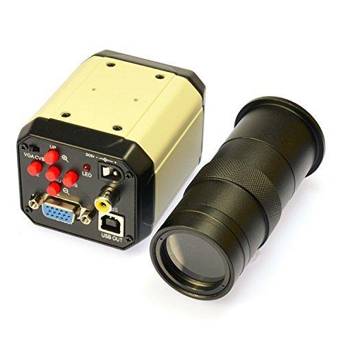 Generic 2.0MP HD 3の1デジタル産業顕微鏡ビデオ工業用セットのカメラPCBラボ用拡大鏡VGA USBのAVのTV出力&Cマウントレンズ B07P5FW15P