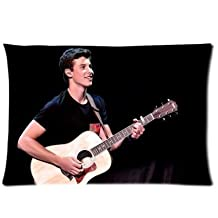 Shawn Mendes Playing Guitar Custom Zippered Pillow Cases Soft And Confortable 20x30 (Twin sides)