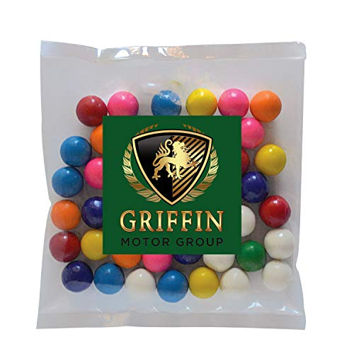 Candy Gift Pack-Gum Balls with CUSTOMIZED in Personalized Small Label Pack-BULK Quantities of 250, 500, 1000, 2500 per…