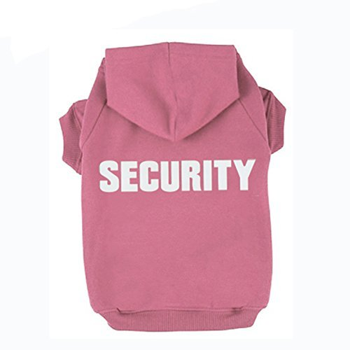 Pink L Pink L BINGPET BA1002-1 Security Patterns Printed Puppy Pet Hoodie Dog Clothes Pink L
