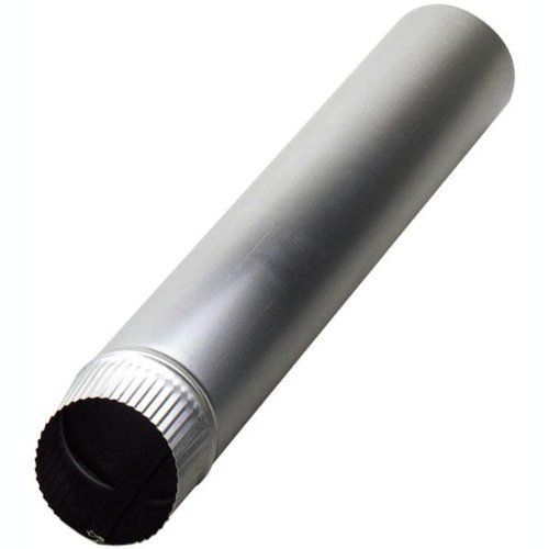 60in Venting Pipe (Deflecto Dp604 4-Inch by 60-Inch Aluminum)