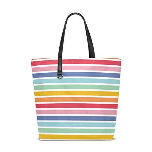ISAOA tote-001, Sac pour femme à porter à l'épaule multicolore Taille unique