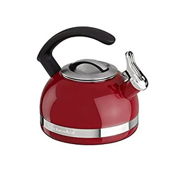 KitchenAid KTEN20CBER 2.0-Quart Kettle with C Handle and Trim Band Empire Red