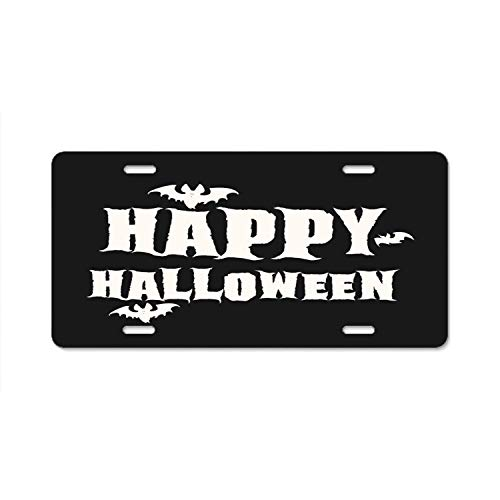 YEX Abstract Happy Halloween Bats License Plate Frame Car Licence Plate Covers Auto Tag Holder 6
