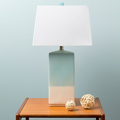 Rustic Isamu Table Lamp with Glazed Ceramic Base by Rustic Isamu