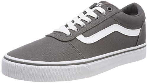 Vans Men''s Ward Low-Top Sneakers, Grey ((Canvas) Pewter/White 4Wv), 9 UK 9 UK