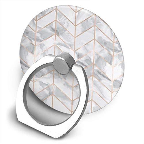 NfuquyamDoormat Marble Herringbone Rose Gold Gilt Design Bracket, 360 Degree Swivel Creative Ring Buckle Bracket Multi-Functional Ring Bracket Stand for Universal Phone