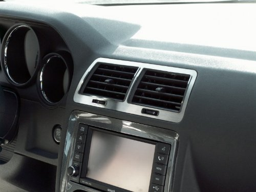 American Car Craft Dodge Challenger 2008 2009 2010 2011 2012 5.7L Brushed A/C Vent Trim Air Dash Interior Kit CHALLENGER-AMERICAN CAR CRAFT 636947862120
