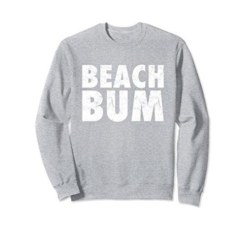 Unisex Beach Bum Sweatshirt Small Heather (Beach Crewneck Sweatshirt)