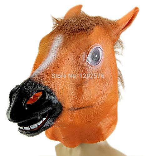 PKRISD Horse Head Mask Latex Animal Costume Prop Gangnam Style Toys Party Halloween