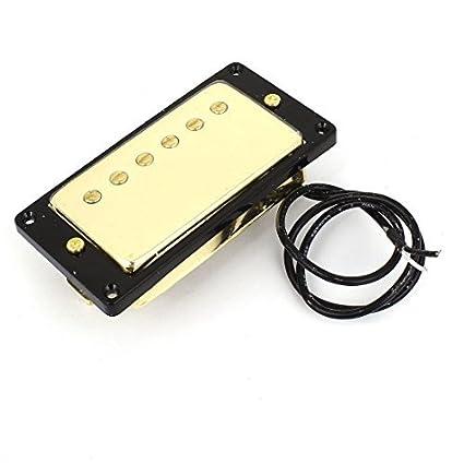 eDealMax la guitarra eléctrica abierto Humbucker Tone Negro Oro