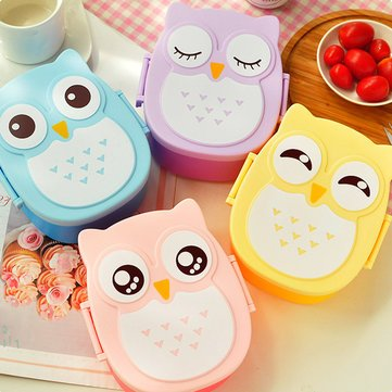 King David Costume Ideas (Dinnerware & Flatware - 900ml Plastic Bento Lunch Box Square Cartoon Owl Microwave Oven Food Container - Children Bento Childrens Portable Yellow Cute Lunch Child Blue Container - Box - 1PCs)