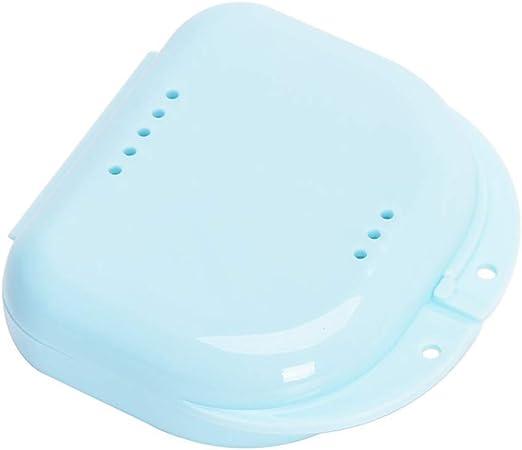 DOXMAL - Estuche para retenedor de dientes con agujeros, portátil, para guardar dentaduras postizas, para oficina, viaje, hogar, caja de dientes falsos: Amazon.es: Amazon.es