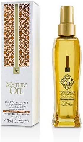 L'OREAL MYTHIC OIL - HIGH CONCENTRATION SESAME & ALMOND OILS , 3.4 Oz.