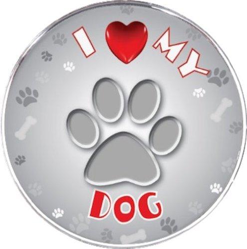 iLeesh I Love My Dog Reflective Decal