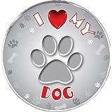 iLeesh I Love My Dog calcomanía Reflectante