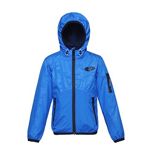Rokka&Rolla Boys' Lightweight Water Resistant Zip-Up Hooded Windbreaker Jacket
