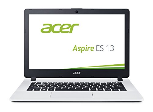 Acer Aspire ES 13 (ES1-331-C985) 33,8 cm (13,3 Zoll HD) Notebook (Intel Celeron N3050, 2GB RAM, 32GB eMMC, Intel HD Graphics, Windows 10 Home) weiß