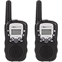 BELLSOUTH T-388 Twin Mini Walkie Talkie for Kids, Easy to use 3-5KM Range 22-Channel FRS/GMRS UHF Two-Way Radios(Black)