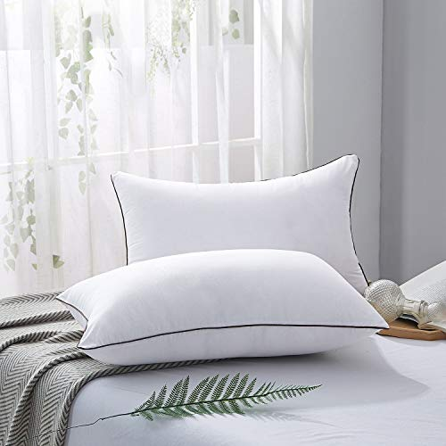 2 Pillows for Side Sleeper Hotel Down Sleeping Super Soft Fiber Size
