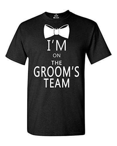 Ptshirt.com-19214-Shop4Ever I\'m on the Groom\'s Team T-shirt Wedding Shirts-B01C4TQI0A-T Shirt Design