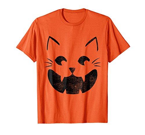 Cat Pumpkin Face Halloween Costume Jack O Lantern