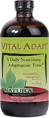 Natura Health Products - Vital Adapt - Herbal tonic nourishes adrenal function, improves energy and stress protection - 16 Fluid Ounces by Natura Health Products