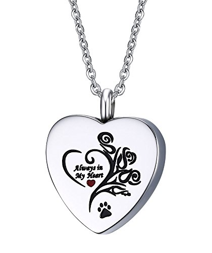 Pet Cremation Urn Necklace, Stainless Steel on 19