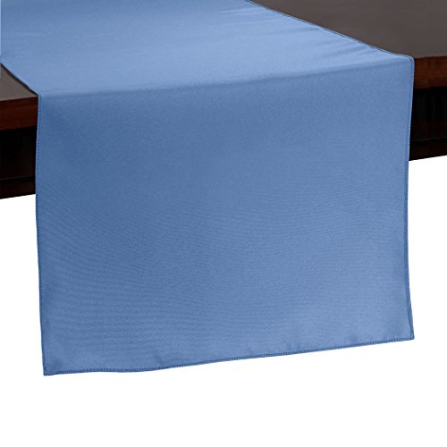 - Ultimate Textile -2 Pack- 14 x 72-Inch Polyester Table Runner, Periwinkle Blue