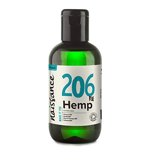 Naissance Hanfsamenöl BIO (Nr. 206) 100ml – nativ, kaltgepresst, 100% rein – vegan und tierversuchsfrei – reich an Omega-3 und Omega-6