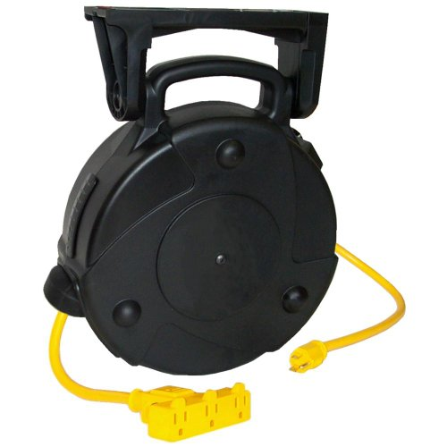 Lind Equipment 8040-T Cable Reel, 40ft, Triple Outlet, Circuit Breaker, 15A rated, 12/3 SJTW Cable by Lind Equipment